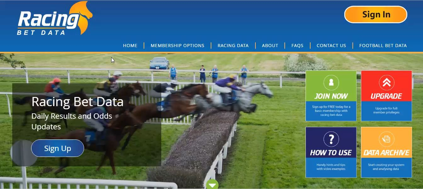 How to use the Site | Horse Racing Bet Data and Betting Odds